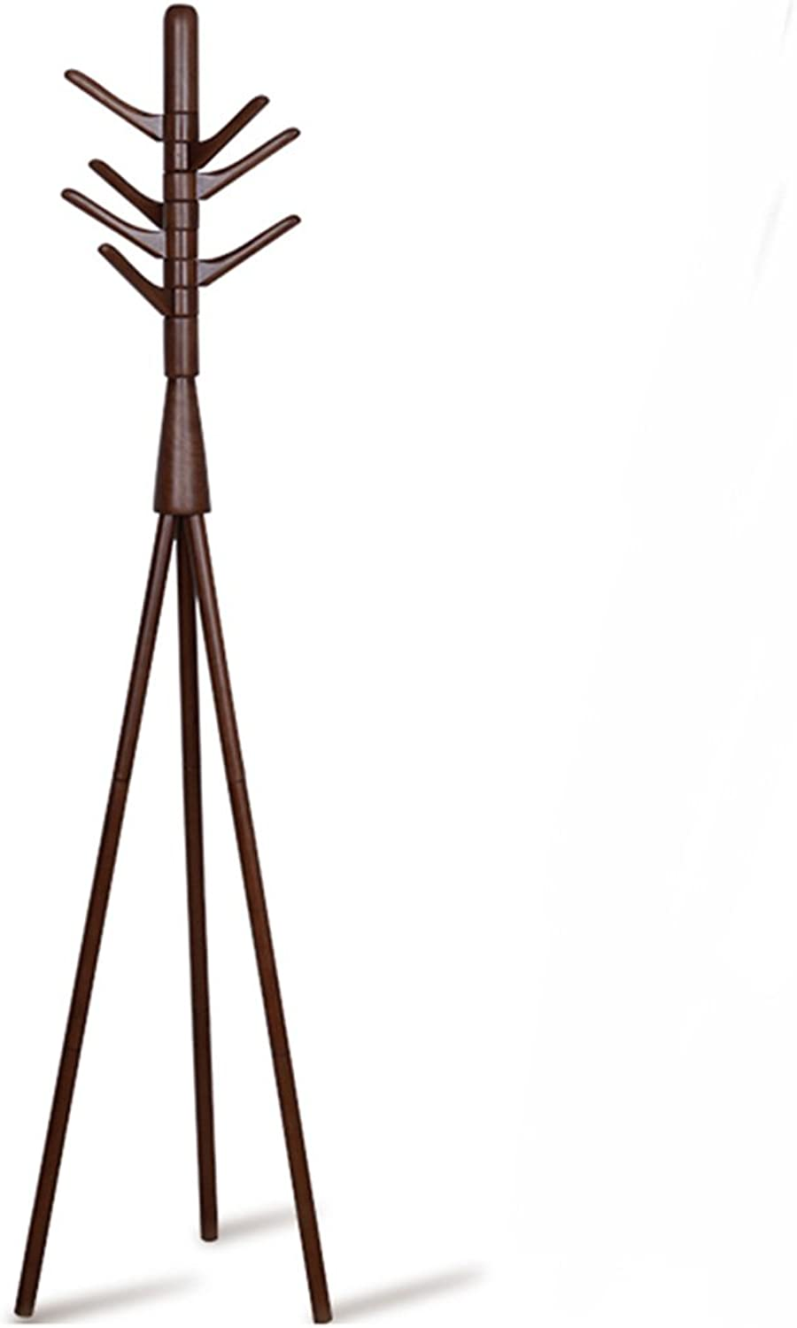 Creative Solid Wood Living Room Bedroom Coat Stand Hat Stand Indoor Floor-Standing Clothes Racks(color Optional, 43  180cm) (color   Coffee color)