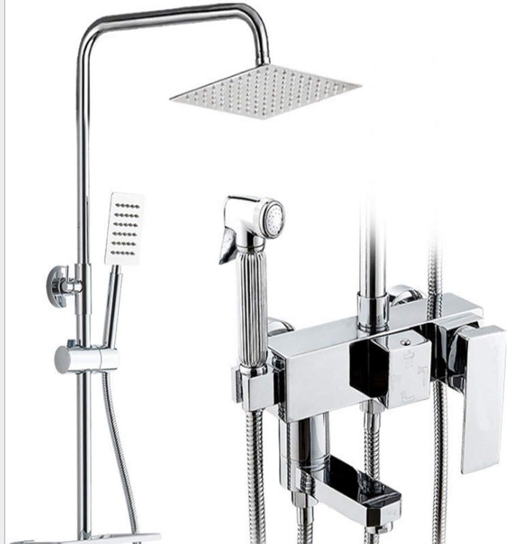 KaO0YaN-Shower Vollkupfer Duschset Dusche Dusche Zuhause Regen Düsenverstrker Dusche Duschsystem Duschset