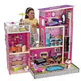 KidKraft Girl's Uptown Dollhouse with Furniture,Multi,49.25' x 25.25' x 46.25'