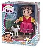 Unbekannt Heidi - Figur Heidi 6'/17cm und weiße Ziege 2'75'/7cm in Blister (Famosa 700012250)