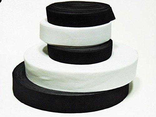 Gummiband 3 m Kleidung und Haushalt DIY Handwerk 3 Meter, 3 cm Breit Schwarz oder Weis (Weis)