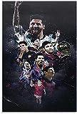 Lienzo Pintura Al óLeo La Vida de una Estrella de fútbol de una Superestrella y una Imagen para la decoración de la Oficina Poster Y Estampados Arte Cuadros 23.6'x35.4'(60x90cm) Sin Marco