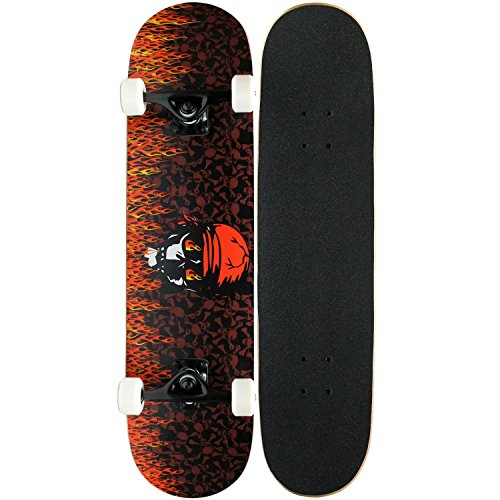 KPC Pro Skateboard Complete, KPC-301, Rote Flamme