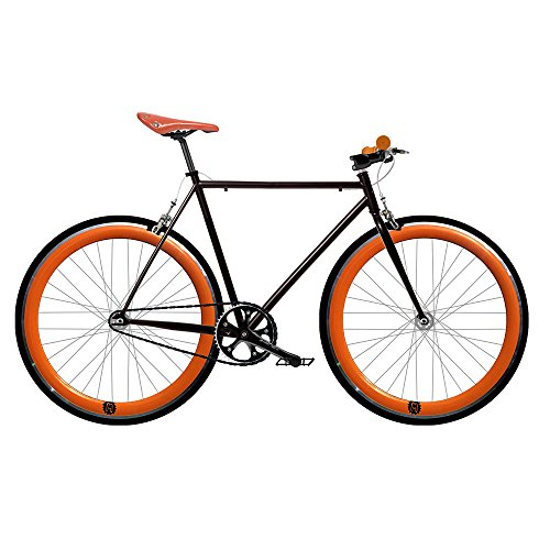 Mowhel Bicicleta Fix 2 Naranja. Monomarcha Fixie/Single Speed. Talla 53