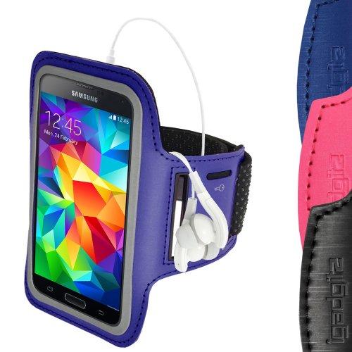 iGadgitz U2879 funda para teléfono móvil Brazalete caso Azul - Fundas para teléfonos móviles (Brazalete caso, Samsung, Galaxy S5 SV SM-G900, Azul)