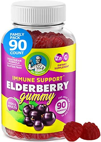 Elderberry Gummies for Kids and Adults 90 Count Natural Immune System Booster and Health Support product image