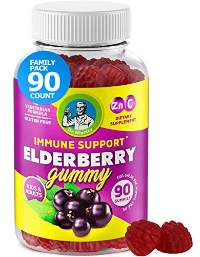 Elderberry Gummies for Kids and Adults (90 Count) - Natural Immune System Booster and Health Support with Black Sambucus Elderberries Extract - Vitamins C and Zinc Herbal Immunity Supplements