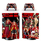 TSWEET One Piece Luffy PS5 Standard Disc Edition Skin Sticker Decal Cover for Playstation 5 Console and Controllers PS5...
