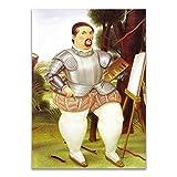zkpzk Cuadros divertidos de Fernando Botero para pareja de bailarines gordos y estampados para sala de estar, decoración de pared, 50 x 70 cm x 1 sin marco