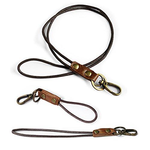 Boshiho Umhängebänder für Schlüssel, USB-Stick, Handy, Ausweishalter, 3 Stück 0283 braun