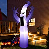 Sizonjoy 9 Ft Giant Halloween Inflatable Ghost,Blow Up Halloween Decorations Outdoor Built-in LED Lights with Tethers and Stakes -for Indoor/Outdoor/Yard/Patio/Garden Decoration