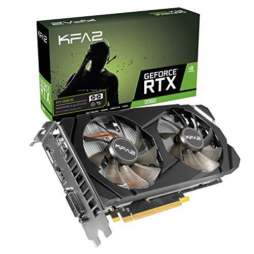 KFA2 26NRL7HPX7OK nVidia GeForce RTX 2060 OC 6GB 256-bit GDDR6 PCIe Grafikkarte, schwarz