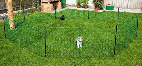 Ellofence Kleintier Weidezaun mit Weidezaunnetz für Kaninchen Hunde Katzen Kleintiere - 3