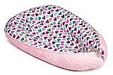 Multifunktionales Babynestchen für Babys Kuschelnest 2-seitig Kokon Baby-Reisebett Wickelauflage Babynest Kuschelbett Muster Herz [100]
