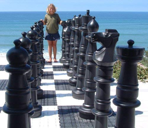 MegaChess Giant Oversized Premium Chess Pieces Complete Set with 49 Inch Tall King - Black and White