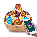 Diffusori di Oli Essenziali WiFi 400 ml Supportano Alexa e Google Home Voice Control, con Smart App, Umidificatore Aromi Ceramica, 7 LED a Colori, Crea Programmi, Timer, Auto Spegnimento Senza Acqua