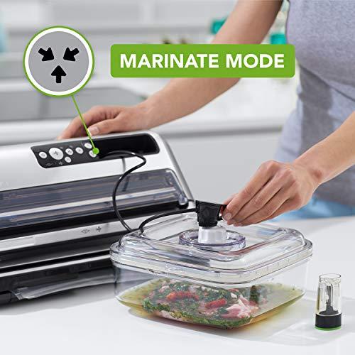 FoodSaver FFS006X macchina sottovuoto per alimenti secchi/umidi, portarotolo e taglierina, 3 livelli aspirazione + sigillatura automatica, funzione marinatura, tubo per contenitori, accessori inclusi