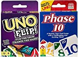 Phase 10 and Uno Flip Two Pack