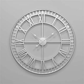 Relojes de Pared 80cm Números Romanos Decorativos de Metal Grandes Reloj Esqueleto silencioso 3D para Cocina, Dormitorio, jardín, Sala de Estar, Estudio, Oficina ?Diámetro: 34 pulg. (Color: