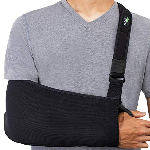 Think Ergo Arm Sling Sport - Lightweight, Breathable, Ergonomically Designed Medical Sling for Broken & Fractured Bones - Adjustable Arm, Shoulder & Rotator Cuff Support (Adult)