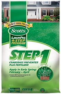 Scotts 39180 LawnPro Step 1 Crabgrass Preventer Plus Lawn Fertilizer