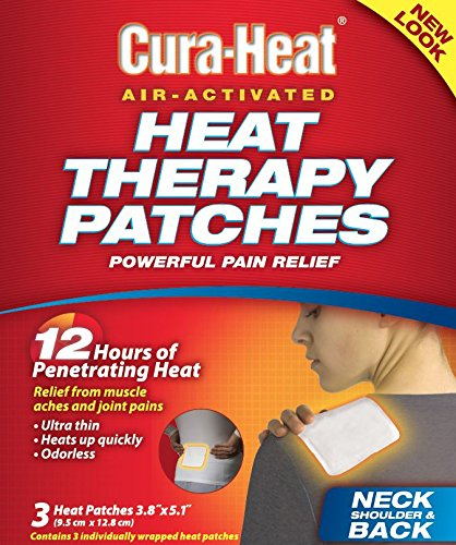 Cura-Heat Multi-Purpose Therapeutic Heat Wrap (3 Count), Soothes, Relaxes, Relieves, and Unlocks Tight Muscles.