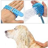Tyag Dog and Cat Shower Sprayer Washing Massage Hair Washer Water Sprayer Head Pet Cleaning Accessories Bath Sprayers, Rubber Blue (Set of 1)