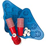 Bierpong Becher Set - Mit 2 Racks + 50 Original 16 Oz. Red Cups & 6 Beerpong Bällen | ideal zum Spielen unterwegs | mit Kühlfunktion - Wasser rein & einfrieren | stabil & leicht zu reinigen
