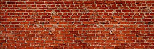 wandmotiv24 Küchenrückwand Backstein rot Stadt 160 x 50cm (B x H) - Aluminium 3mm Nischenrückwand Spritzschutz Fliesenspiegel-Ersatz M0240