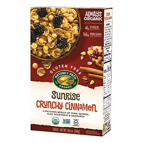 Nature's Path Sunrise Crunchy Cinnamon Cereal, Healthy, Organic, Gluten-Free, 10.6 Ounce Box (Pack of 12)