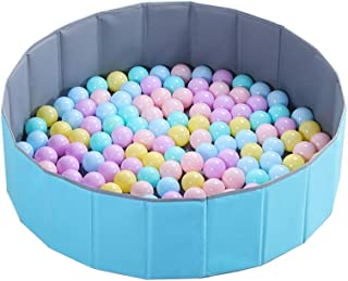 LIUFS-Playpen Children's Colorful Ball Playpen Ocean Ball Pool Thickened Indoor Toy Ball Wave Ball Pool Folding Home Ball Pool Fence (Color : B ball-100+Ball Pool)