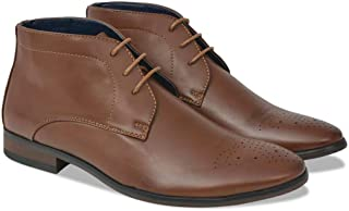 Shoes Men's Lace-Up Ankle Boots Brown Size 8.5 PU Leather