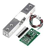 ZHITING Sensore di Peso a cella di carico da 5 kg + sensore di Pressione A/d per pesatura del Peso HX711 per Bilancia Arduino