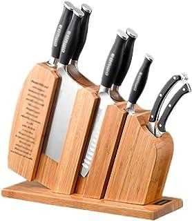 TNSYGSB Porte-Couteau de Rangement en Bambou carbonisé, Porte-Couteau de Cuisine Verticale ménagère Blocs de Couteau à sau...