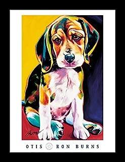 Buyartforless Framed Otis by Ron Burns 24x18 Art Print Poster Dogs Cute Puppy Beagle Wide Frame