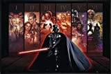 Star Wars Poster Hexalogie Darth Vader (62x93 cm) gerahmt