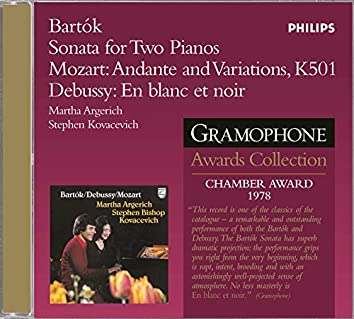 Bartok: Sonata For 2 Pianos And Percussion / Mozart/Debussy