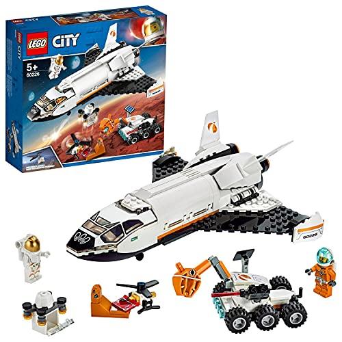 LEGO CitySpacePort ShuttlediRicercasuMarte, Giocattoli da Costruzione per Bambini Ispirati dalla NASA, con Rover e Drone, 60226