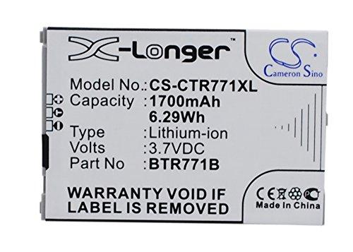 Techgicoo 1700mAh/6.29Wh batteria compatibile con Casio Gzone commando C771, C771VERIZON commando C771, C771