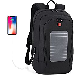 A picture of fanspack's solar power bag which is one of the best smart backpacks for men and women