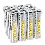 HEITECH AA Akku Mignon 2550 mAh 1,2V NiMH TÜV geprüft 16 Stück - Wiederaufladbare Batterien mit geringer Selbstentladung - Akkus für Geräte mit hohem Stromverbrauch