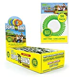 SUPERBAND Premium Mosquito Repellent Bracelet (50 Pack) - Natural Insect & Bug Repellent Band - DEET...