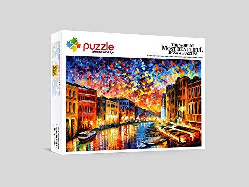 RNGNB Puzzles De 1000 Piezas Puzzles Creativo Puzzle Adultos Intelectual Desafío para Adultos Adolescentes Ciudad De Agua 52 * 38Cm