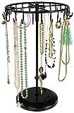 Espositore girevole gioielli con 24 ganci - Nero 34 x 21 x 21 cm - Organizer per la presentazione di bijoux - Grinscard
