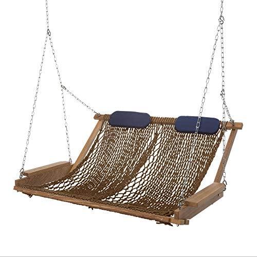 Nags Head Hammocks Cumaru Deluxe Rope Porch Swing Mocha DuraCord product image