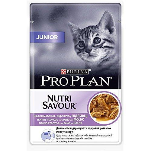 Purina ProPlan in Salsa Cibo per Gatto Junior, Beve, Gattino con Pavo, 24 x 85 g