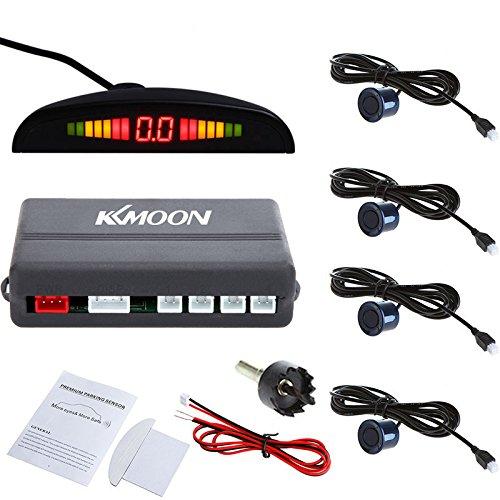 KKmoon - Sistema de aparcamiento con radar, incluye 4 sensores de coche, color azul