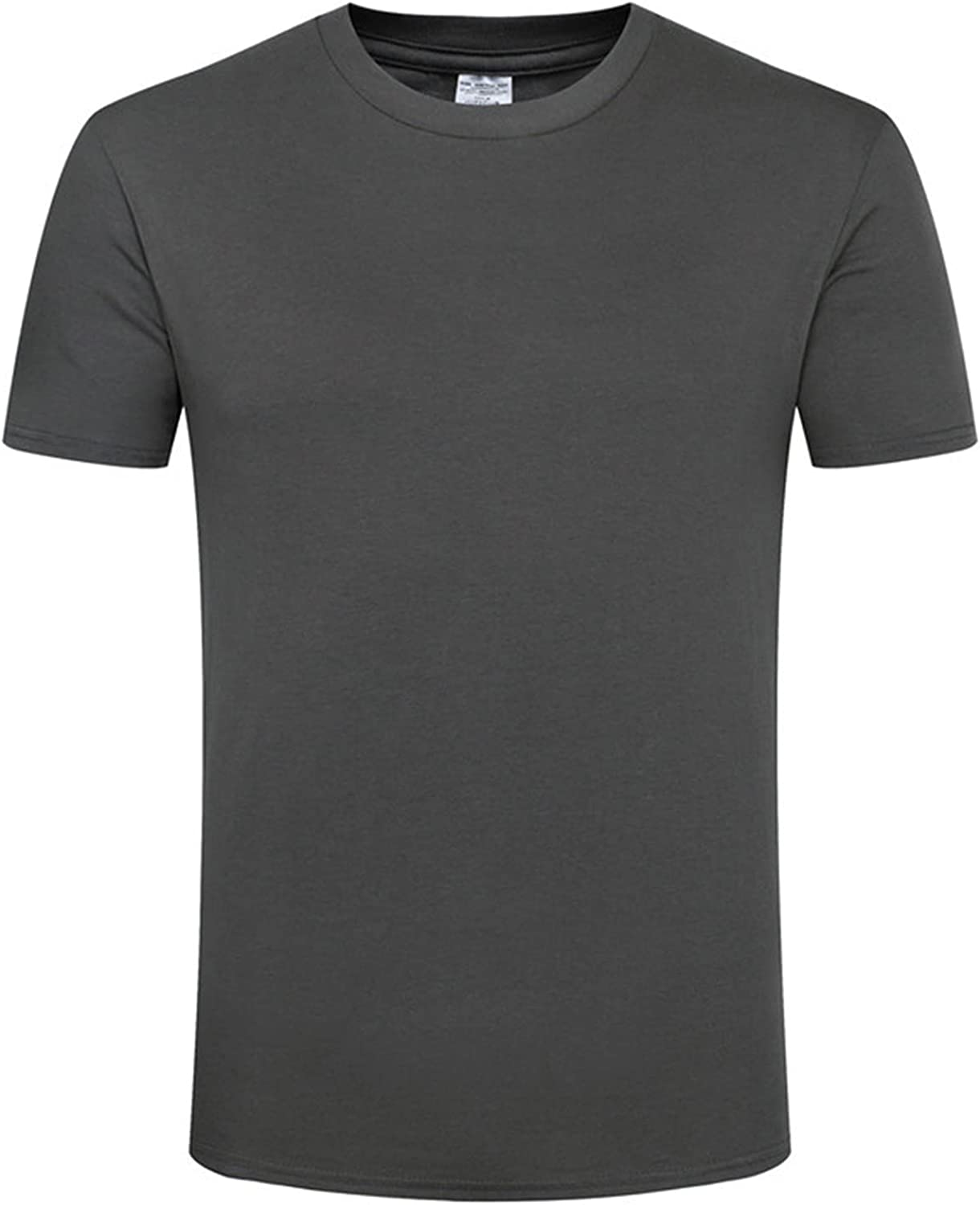 T Shirts for Men Fashion Hip Hop Pullover Short Sleeve Workout Gym Muscle T-Shirt Solid Color Round Neck Jacket Top