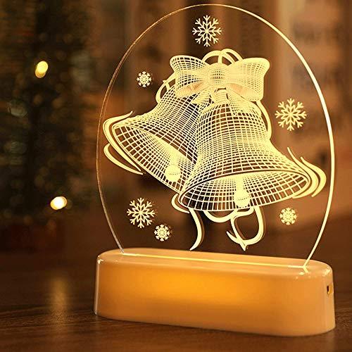 TIDRT 3d Night Light Room Decoration Christmas Decorations Ornaments Led Christmas Lights String