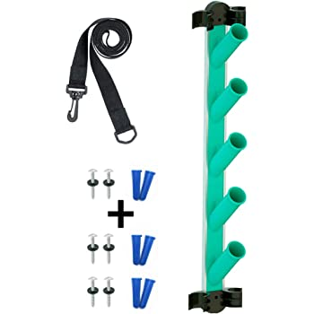 POOLWHALE Hangable Swimming Pool Maintenance Tool Organizer,Pool Cleaning Accessory Holder Rack - Premium for Poles,Brushes,Nets and Vacuums - Caddy Hanger for Swimming Pool Spa Attachment Accessories